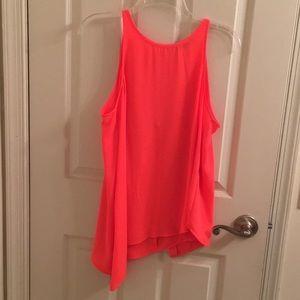 Fluorescent orange Express sleeveless blouse